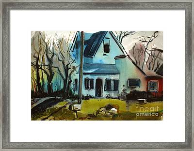 Framed Print featuring the painting Moppity's House Matted Framed Glassed by Charlie Spear