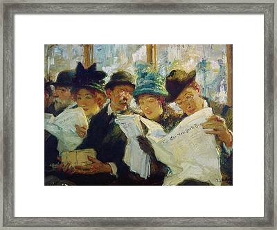 Mora Morning News C1912 Framed Print by Granger