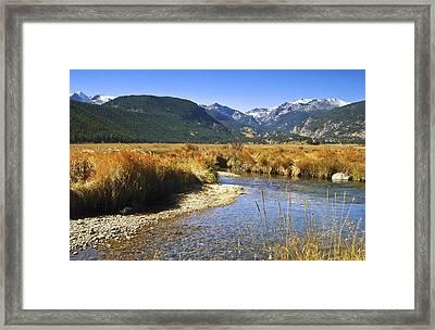 Morain Park Colorado Framed Print by James Steele