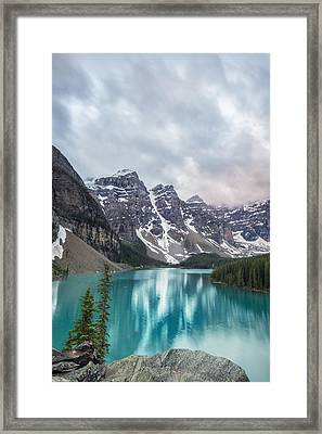 Moraine In The Summer Framed Print by Jon Glaser