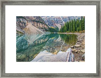 Framed Print featuring the photograph Moraine Lake 2009 04 by Jim Dollar