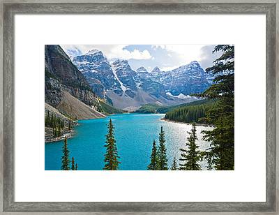 Moraine Lake Framed Print by Adam Pender