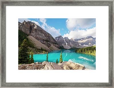 Moraine Lake Banff National Park Framed Print