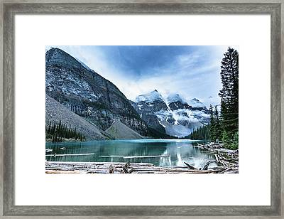 Moraine Lake Blues Framed Print by Monte Arnold