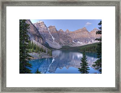 Moraine Lake - Valley Of The Ten Peaks Framed Print