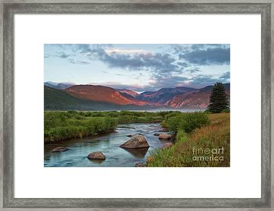 Moraine Park Glow Framed Print