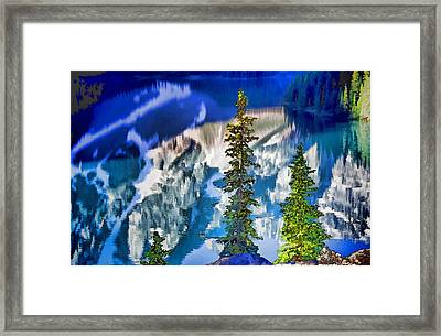 Moraine Reflections Framed Print by Dennis Cox WorldViews