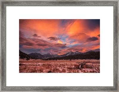 Morain's Sunrise Framed Print