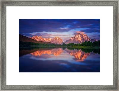 Moran Cloudcap Framed Print by Darren  White