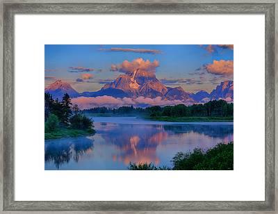 Moran Morning At Oxbow Bend Framed Print