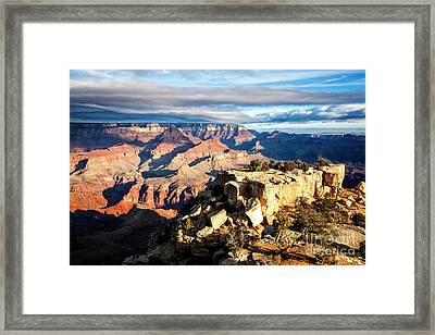 Framed Print featuring the photograph Moran Point 2 by Scott Kemper