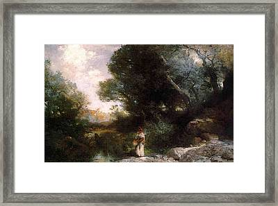 Moran Thomas A Water Pocket In Southern Utah Framed Print