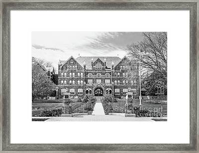 Moravian College Comenius Center Framed Print by University Icons