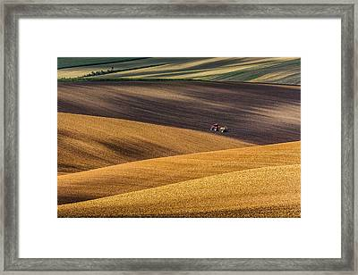 Moravian Fields Framed Print by Marek Biegalski