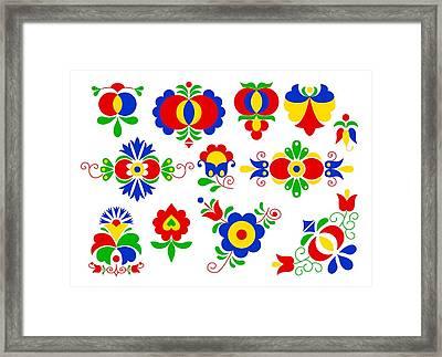 Moravian Folk Ornaments Framed Print by Miroslav Nemecek