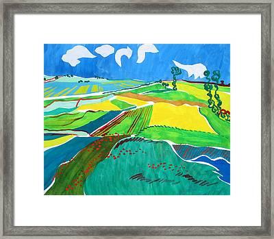 Moravian Landscape Framed Print