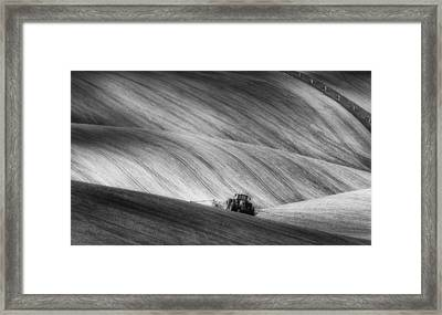 Moravian Seeding Framed Print