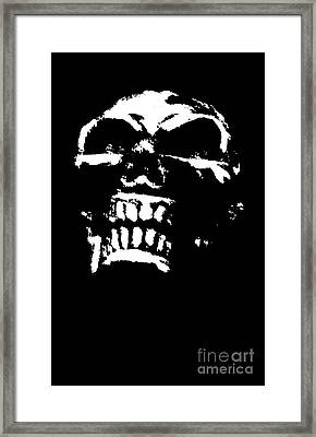 Morbid Skull Framed Print by Roseanne Jones