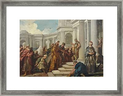 Mordecai's Disdain Framed Print by Jean-Francois Detroy