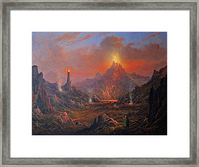 Mordor Land Of Shadow Framed Print by Joe Gilronan