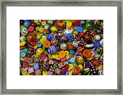 More Beautiful Marbles Framed Print by Garry Gay