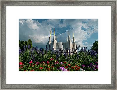 More Building, Less Flowers Lds Framed Print