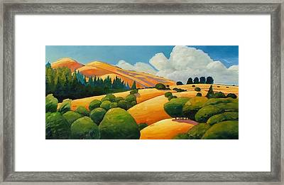 More Clouds Over Windy Hill Framed Print