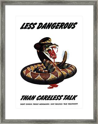 More Dangerous Than A Rattlesnake - Ww2 Framed Print by War Is Hell Store