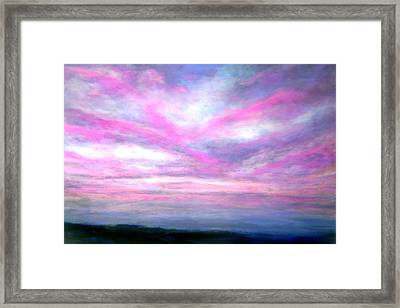 More Dramatic Panorama Framed Print by Marie-Line Vasseur