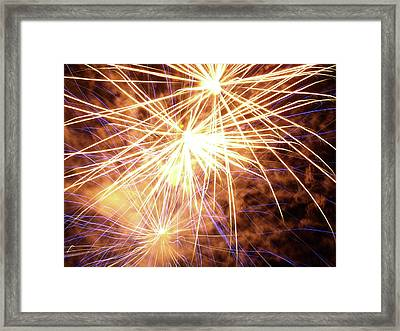 More Fireworks - 2 Framed Print by Jeffrey Peterson