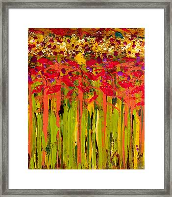 More Flowers In The Field Framed Print