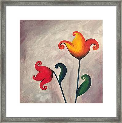 More Fun Flowers -a Framed Print
