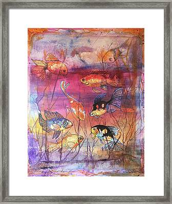 More Goldfish Framed Print by Edith Hardaway