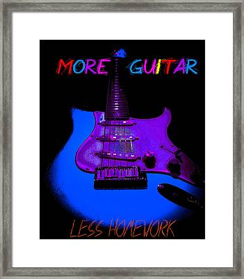 Framed Print featuring the photograph More Guitar Less Homework by Guitar Wacky