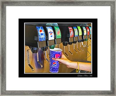 More Ice Please Framed Print