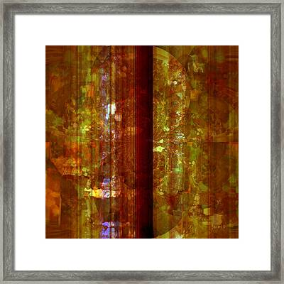More Marble Framed Print by Fania Simon
