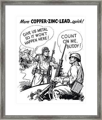 More Metal Ww2 Cartoon Framed Print by War Is Hell Store