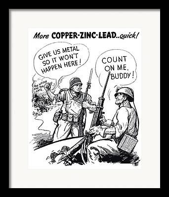 Political Propaganda Drawings Framed Prints