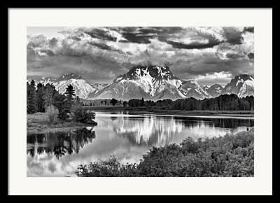 Pond In Park Digital Art Framed Prints