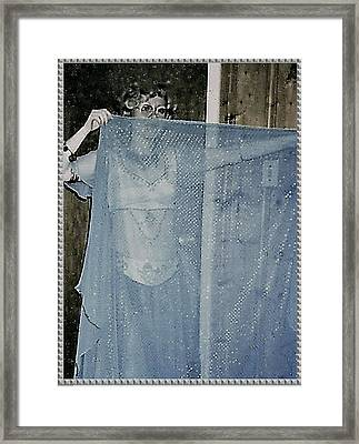 Framed Print featuring the photograph More Peek-a-boo by Denise Fulmer