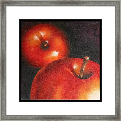 More Red Apples Framed Print by Jose Romero