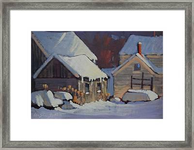 More Snow Predicted Framed Print by Len Stomski