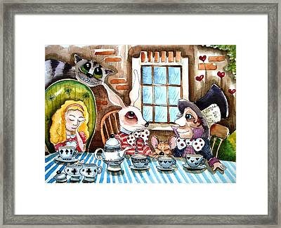 More Tea Framed Print by Lucia Stewart