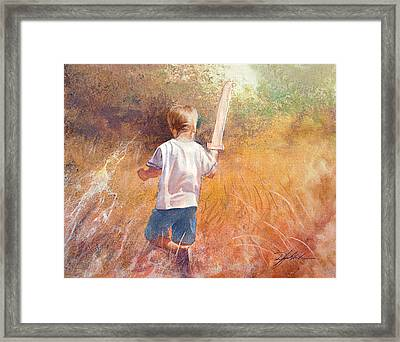 More Than A Conqueror Framed Print by Danny Hahlbohm