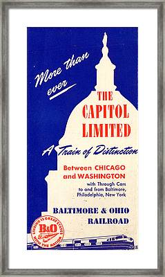 More Than Ever, The Capitol Limited Framed Print