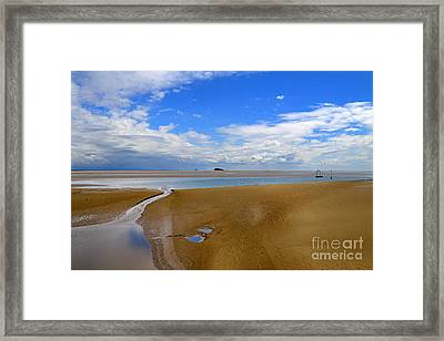 Morecambe Bay Cumbria Framed Print by Louise Heusinkveld