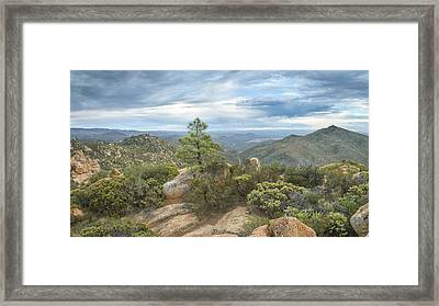 Framed Print featuring the photograph Morena Valley And Los Pinos Mountain by Alexander Kunz