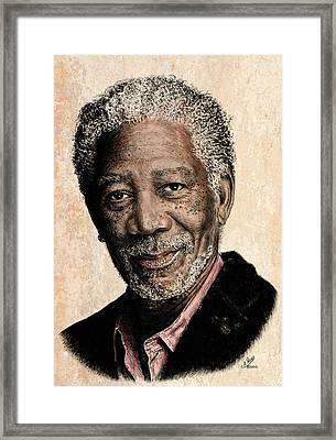 Morgan Freeman Colour Edit Framed Print