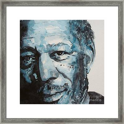 Morgan Freeman Framed Print by Paul Lovering