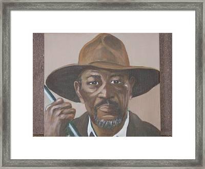 Morgan Framed Print by KC Knight